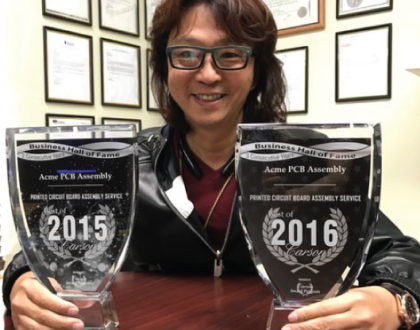 Consecutive Years in the Carson Business Hall of Fame